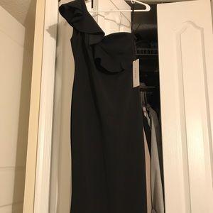 Calvin Klein Black Ruffle Gown, worn once